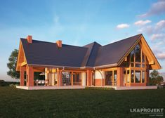 Wooden House Plans, Home Fashion, My Dream Home, Decoration, My House, Villa, Exterior, Fire, Cabin
