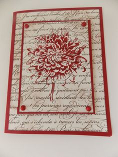 Stampin Up Handmade Any Occasion Card Blooming by Cre8tivecards88, $3.49