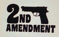 2nd Amendment Die Cut Vinyl Decal by DaizysDezigns on Etsy