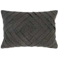 Enhance any room's décor with the unique Villa Home Modern Chic Draper Onyx Oblong Throw Pillow. The sophisticated throw pillow is adorned with a woven-look geometric pattern with pleats on a stonewashed charcoal ground. Modern Throw Pillows, Colorful Pillows, Sofa Pillows, Accent Pillows, Decorative Throw Pillows, Cushions, Pillow Set, Lumbar Pillow, Pillow Talk
