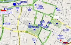 Location Map For Baggot Court Dublin Ireland Restaurants In Dublin, Dublin City, Location Map, Dublin Ireland, Nassau, Guinness, Cathedral, Castle, Map