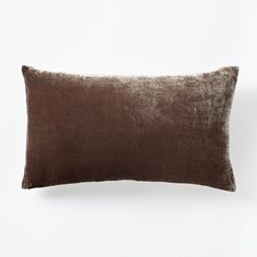 Luxe Velvet Lumbar Pillow Cover - Taupe | west elm