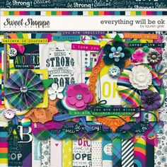 Everything Will Be Ok by lauren grier - I am just learning that everything WILL actually be ok.  What a great kit! #laurengrier