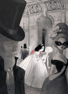 By Isabella Mazzanti valentine's fairytale ball Grimm art illustration to love Carmilla, Children's Book Illustration, Yuri, Art Inspo, Amazing Art, Concept Art, Cool Art, Art Drawings, Character Design