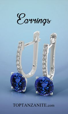 Find this most elegant design of Tanzanite Earring at toptanzanite.com