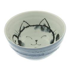 """Kotobuki Trading Co.: Cat Bowl 6.25"""" Blue"""