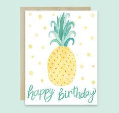 Piña cumpleaños feliz cumpleaños cumpleaños tarjeta Linda