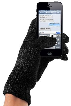 touchscreen gloves -- can be used to text -- perfect for winter!  from dutch designers, mujjo