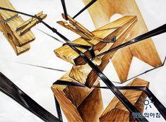 기초디자인 건국대 기디 입시미술 기초디자인 개체묘사 끈 나무집게 빨래집게 일러스트 디자인
