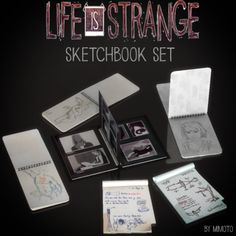 "mimoto-sims: "" Life is Strange: SketchBook Set Download """