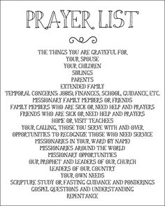 Printable Prayer List // remember everything and everyone you want to pray for