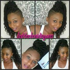 Loose end faux locks, faux locs❤ Shaved Side Hairstyles, Faux Locs Hairstyles, Crochet Braids Hairstyles, African Braids Hairstyles, Woman Hairstyles, Box Braids Shaved Sides, Half Shaved Hair, Side Braids, Natural Hair Tips