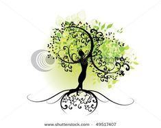Tattoo #2 Inspiration... tree of life with silhouette