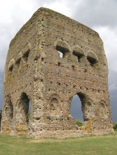 Part of the ruins of the old Roman Temple of Janus in Autun, France.The Romans called this town Augustodunum as it was built during the reign of Augustus