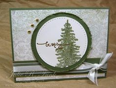 evergreen tree - Homemade Cards, Rubber Stamp Art, & Paper Crafts - Splitcoaststampers.com
