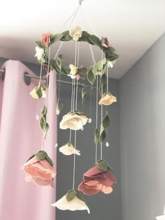 Is Hydroponic Gardening Organic Code: 2955914672 Baby Nursery Themes, Baby Decor, Girl Nursery, Felt Roses, Felt Flowers, Fabric Flowers, Mobile Garden, Macrame Wall Hanging Patterns, Sensory Activities