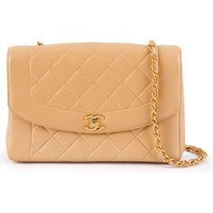 Chanel Vintage quilted shoulder bag ($3,832) ❤ liked on Polyvore featuring bags, handbags, shoulder bags, beige, quilted chain shoulder bag, nude handbags, quilted shoulder bag, chanel handbags and kiss-lock handbags