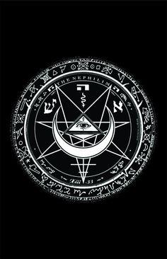 Fields of the Nephilim Mystic Symbols, Occult Symbols, Occult Art, Ancient Symbols, Pentacle, Konosuba Wallpaper, Satanic Art, Satanic Tattoos, Sigil Magic