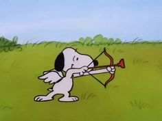snoopy animated | ... charlie brown be my valentine charlie brown snoopy cupid animated GIF