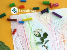 jarní tvoření s dětmi - frotáž Jar, Creative, Jars, Glass