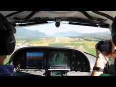 Cirrus SR22 GTS landing at Chambery LFLB - http://insurancequotebug.com/cirrus-sr22-gts-landing-at-chambery-lflb