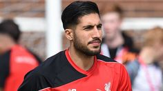 Liverpool stand between Sevilla and Europa League treble   Liverpools German midfielder Emre Can participates in a training session at their Melwood training complex in Liverpool north west England on May 13 2016.  Liverpool face Sevilla in the Europa League final on May 18 2016 with both silverware and a Champions League place up for grabs and Klopp believes this result will provide his side with precious momentum and confidence. / AFP PHOTO / PAUL ELLIS  Liverpool midfielder Emre Can…