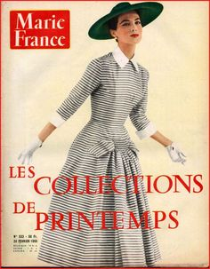 ▬►Marie France 533 de 1955 Spécial Collections Mode Givenchy Dior Fashion