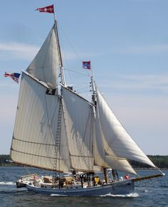 """A native Maine Windjammer, the """"Timberwind"""" is the only pilot schooner sailing the coast of Maine."""