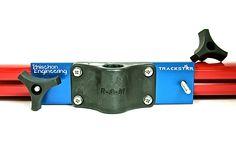 TrackStar - Tracker Versatrack/Lund Sport Trak Gunnel Bracket being mounted on Tracker Versatrack Gunnel