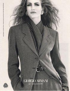 Karen Mulder Guess Ads   KAREN MULDER clipping - 1991 Giorgio Armani Ad - Natures Joy NY