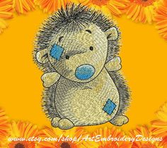 """Hedgehog - Machine Embroidery Designs Set for a Babies and Children of a series """"Old Toy"""""""