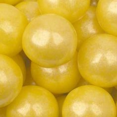 Yellow Pearlized Gumball - 1 Lb. Bag