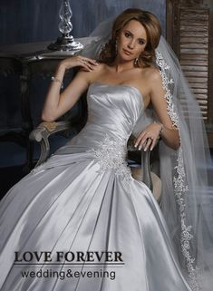 silver wedding dresses - Google Search