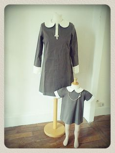 #handmade #classic #retro #mum & #daughter #matching #dresses 100€ - NiNi GamBette http://www.vintagers.com/ninigambette/shop/products/mummy-dolly/ #RT #Share #kids