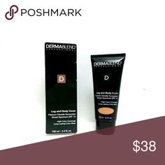 Dermablend Leg and Body Cover Make-Up SPF 15 High performance technology, full coverage body foundation. An improved lightweight formula with SPF 15 and high purity pigments. Leg and Body Cover offers improved skin tone shades and texture to deliver a flawless look and 16 hours of consistent color wear. 3.4 oz Toast Dermablend  Makeup Concealer