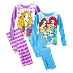 DISNEY GIRLS 2 PC SET PRINCESS JASMINE FLORAL TOP /& PANTS PJS PAJAMAS 5//6 NWT