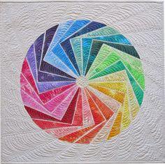 'Color Me Rainbow', 25'' x 25'', quilt pattern by Geta Grama | Geta's Quilting Studio