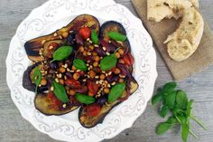 This vegan grilled aubergines (or eggplants in the US) with chickpea caponata is bursting with Summer flavours. A quick and easy lunch or dinner best served with some crusty bread.