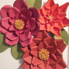 opcin de diffefent plantilla de flores de papel grandes