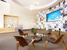 Cool chairs and wall divider