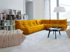 UPHOLSTERED FABRIC SOFA TOGO TOGO COLLECTION BY ROSET ITALIA | DESIGN MICHEL DUCAROY