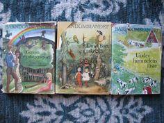 Barndomslandet Lot 3 Vintage HC Books Swedish Language Children's Stories VG