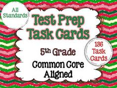 Test prep task cards for all the common core standards for grade math. Separated by domain! Over 100 task cards! *for next year. Teaching 5th Grade, Fifth Grade Math, 5th Grade Classroom, Teaching Math, Classroom Ideas, Creative Teaching, Math Teacher, Teacher Stuff, Teaching Ideas