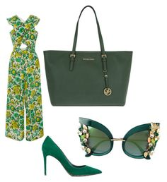 """""""Green"""" by thelittleprincesse ❤ liked on Polyvore featuring Alice McCall, Dolce&Gabbana and MICHAEL Michael Kors"""