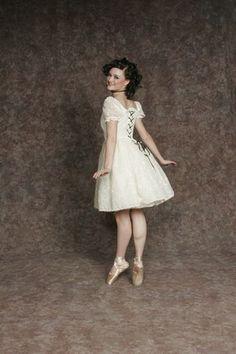 $20.00 Costume Rental   Phantom Ballerina  cream bodice w/black lacing, tutu, bloomers (4 avail.)