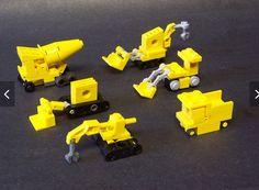 Echte mini bouwmachines