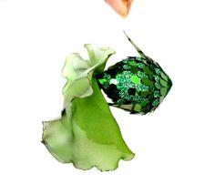 hängende Dekorationen glückliches grün Fisch von AnnushkaHomeDecor