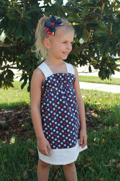 Patriotic 4th of July Girlie Dress by girliebowsgalore on Etsy, $22.50