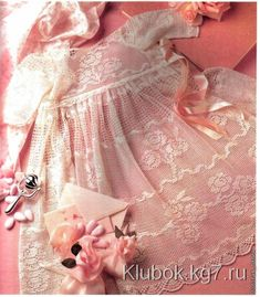 Восхитительное филейное платье для малышки и косыночка | Клубок