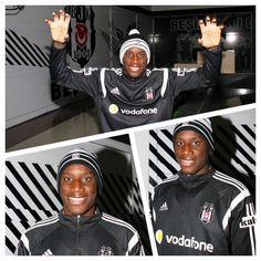 Kartal Yuvası, bereleriyle dikkat çeken yıldız futbolcumuz Demba Ba'ya yeni çıkarttığı ürününü hediye etti. #Beşiktaş